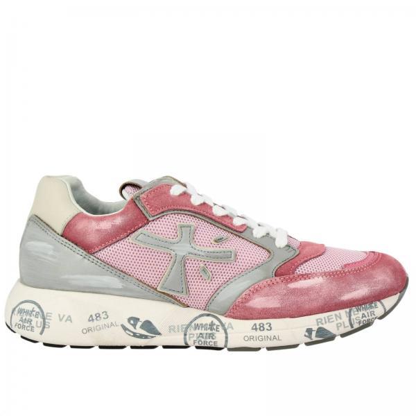 Sneakers Zac-ZacD Premiata in camoscio pelle laminata e micro rete con suola in gomma