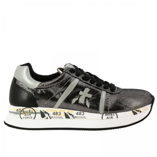 Sneakers Conny Premiata in tessuto micro puntinato con effetto laminato