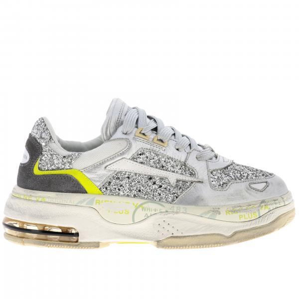 Sneakers Drake Premiata in pelle micro rete e glitter