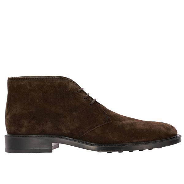 Tod's lace-up chukka boots in suede with rubber bottom