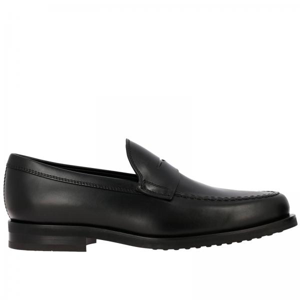 Tod's loafers in genuine smooth leather with crossbar