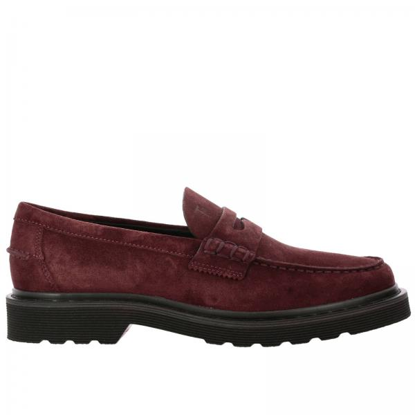 Tod's loafers in genuine suede with crossbar