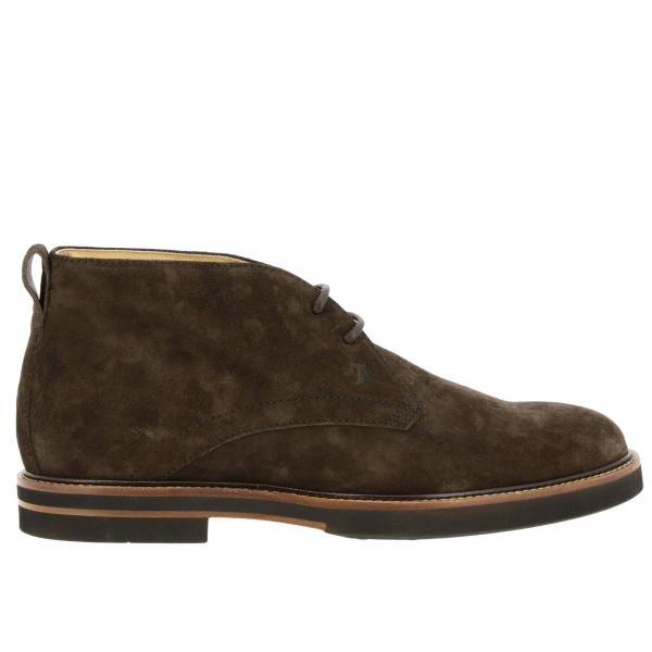 Tod's lace-up desert boots in suede with rubber bottom