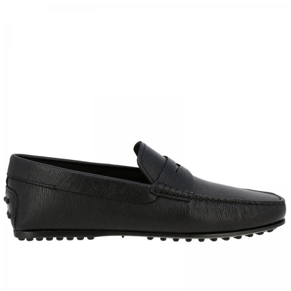 City Tod's gommini loafers in genuine leather with crossbar