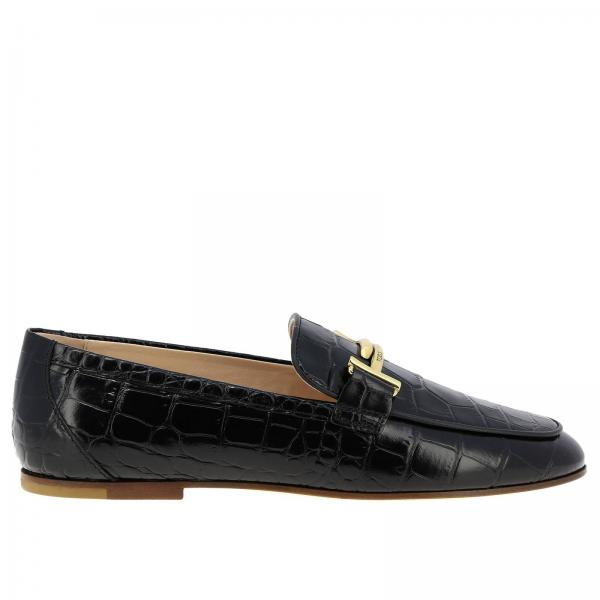 Mocassins Double T Tod's en cuir impression crocodile