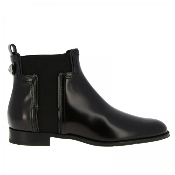 Tod's brushed leather ankle boots with elastic T-shaped bands