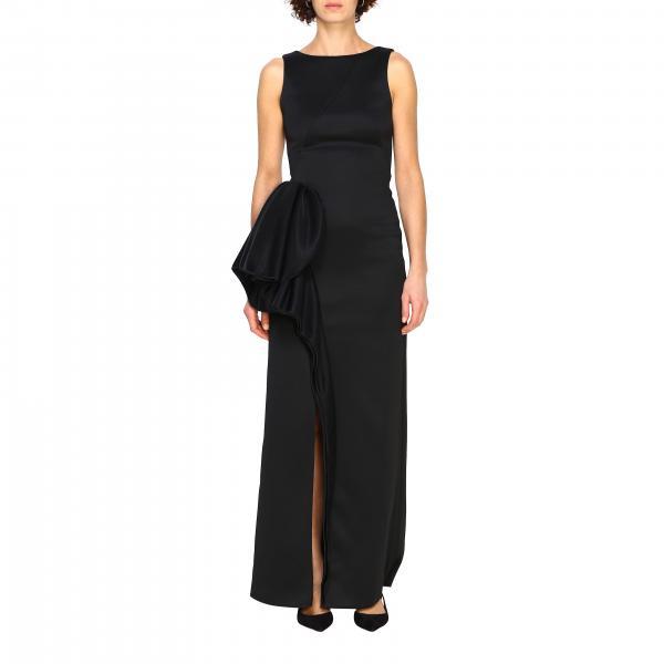 Kleid langes emporio armani kleid mit maxi volant Emporio Armani - Giglio.com