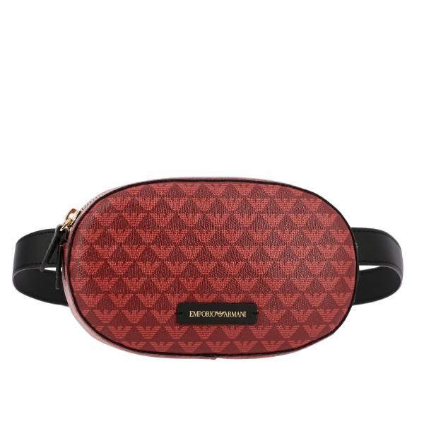 Marsupio Emporio Armani mini in pelle sintetica con logo all over