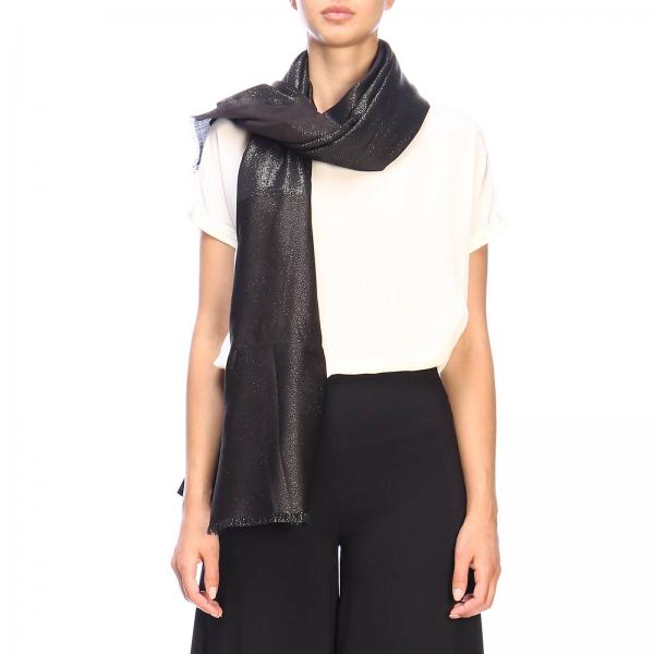 Emporio Armani blended wool scarf and modal lurex