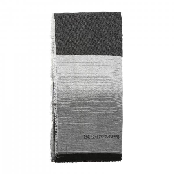 Écharpe Emporio Armani en mélange de laine et modal lurex
