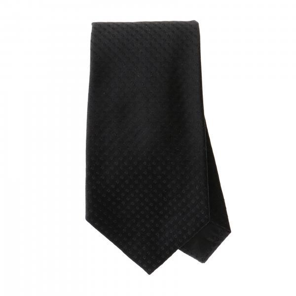 Emporio Armani 7,5 cm Krawatte aus mikro gemusterter Seide