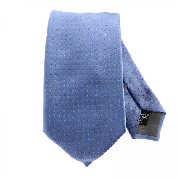 Emporio Armani corbata de 7,5 cm de seda con micro estampado