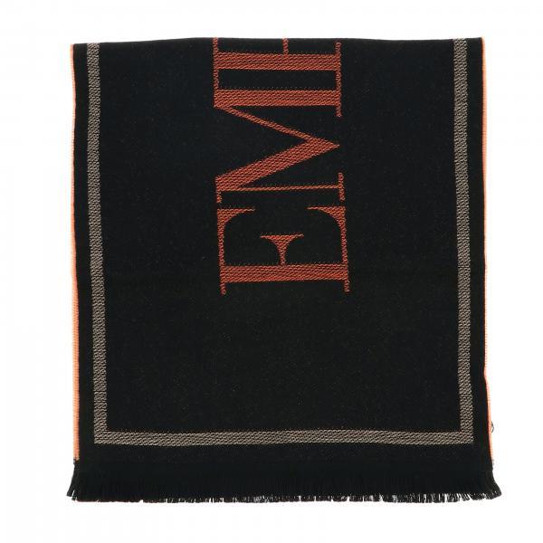 Écharpe Emporio Armani en laine jacquard avec logo