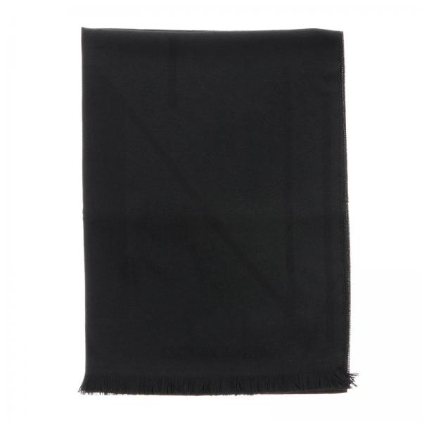 Emporio Armani scarf in basic blended wool with logo