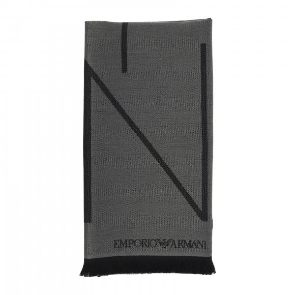 Emporio Armani blended wool scarf with logo