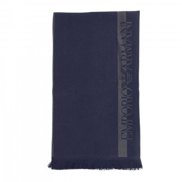 Écharpe Emporio Armani en laine basique avec logo