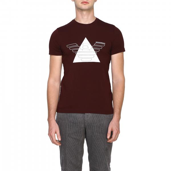 T-shirt Emporio Armani à manches courtes avec grande impression