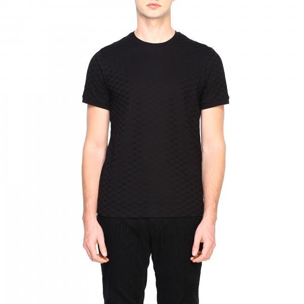T-shirt Emporio Armani a maniche corte con logo aquila all over