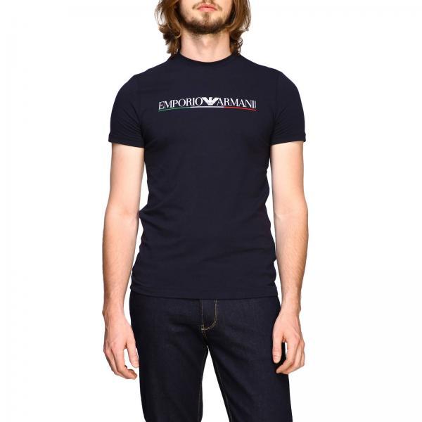 T-shirt Emporio Armani a maniche corte con maxi stampa
