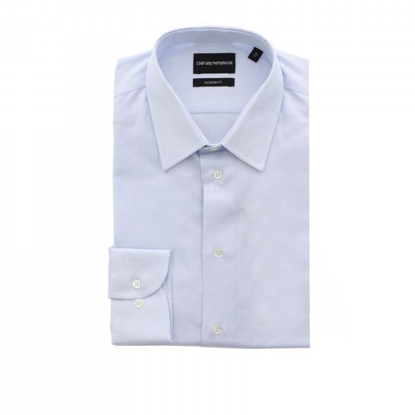 Рубашка Emporio Armani с итальянским воротником из хлопка