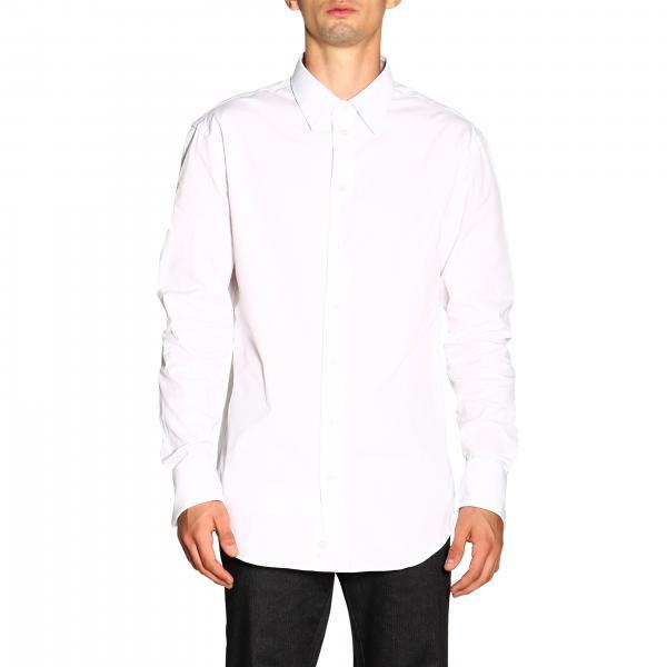 Рубашка Emporio Armani с итальянским воротничком из ткани в мелкий горошек