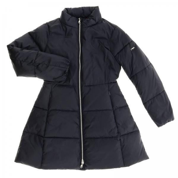Emporio Armani long down jacket with removable hood