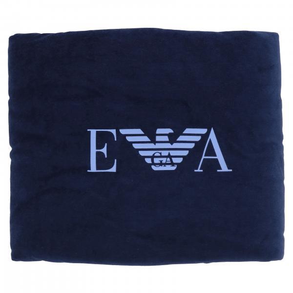 Emporio Armani logo装饰绳绒线毯子