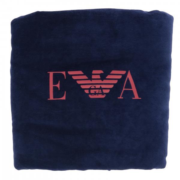 Coperta Emporio Armani in ciniglia con logo