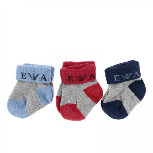 Lot de 3 paires chaussettes Emporio Armani en laine avec logo