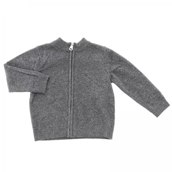 Emporio Armani basic wool cardigan with zip