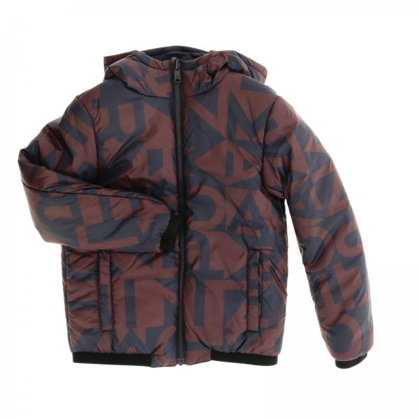 Emporio Armani down jacket in reversible nylon with hood