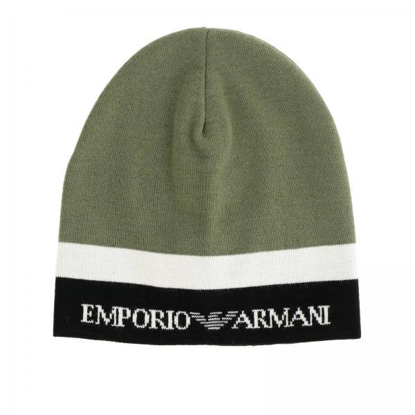 Bonnet Emporio Armani avec logo bicolore