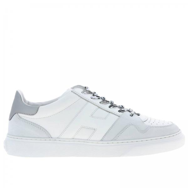 365 Hogan leather and suede sneakers with rounded H