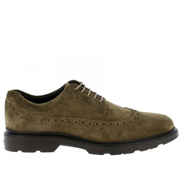 Hogan suede 393 Derby shoes with brogue motif and memory sole