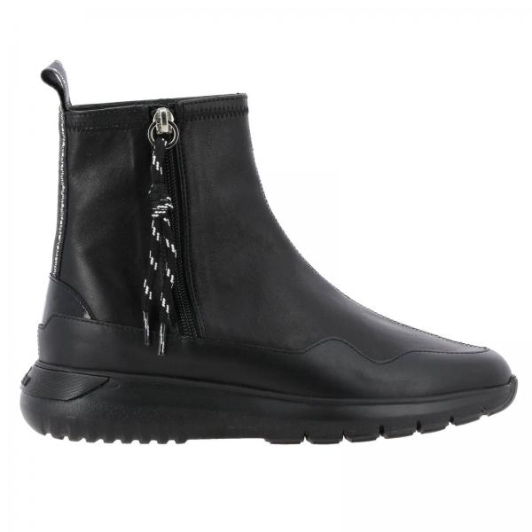 Cube sneakers with Hogan  leather ankle boot with zip