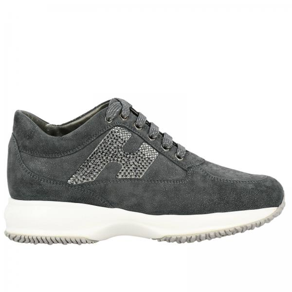 Hogan Interactive sneakers in lurex suede with H strass