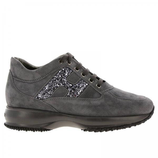 Hogan Interactive suede sneakers with H glitter