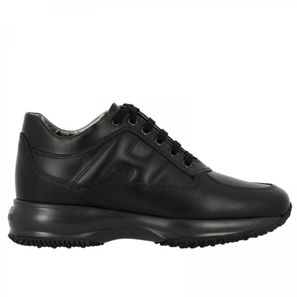 Hogan Interactive Sneakers in leather with rounded H