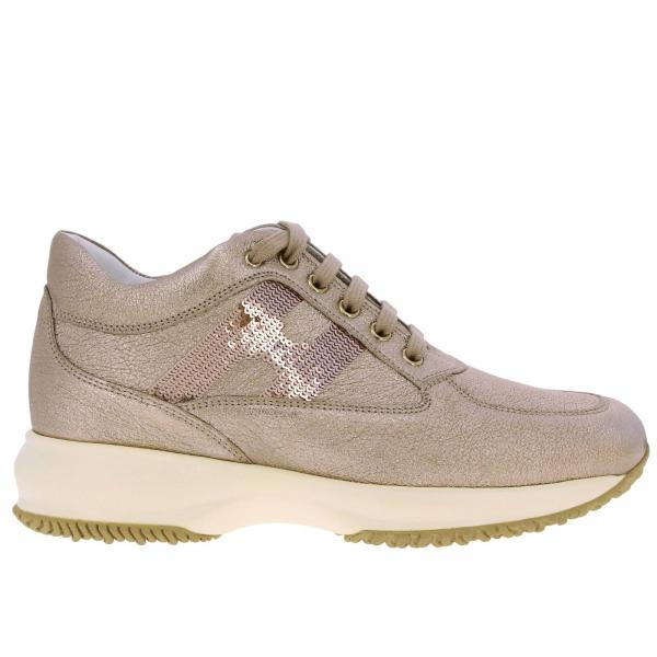 Hogan Interactive Sneakers in laminated leather with sequin H