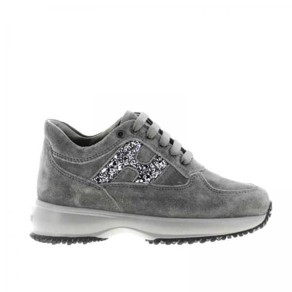 Hogan Interactive sneakers in suede with H glitter