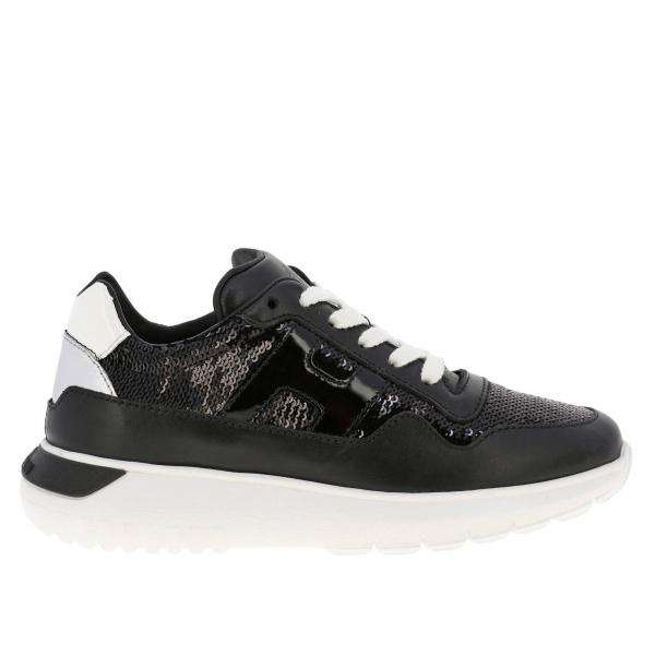 Cube Hogan leather and sequins sneakers