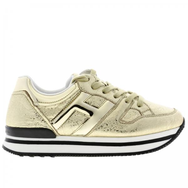 222 Hogan sneakers in laminated leather with mirrored H