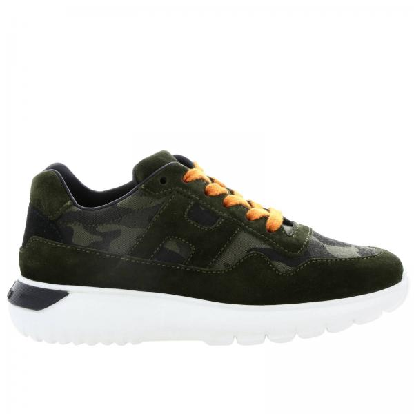 Cube Hogan sneakers in suede and camouflage fabric