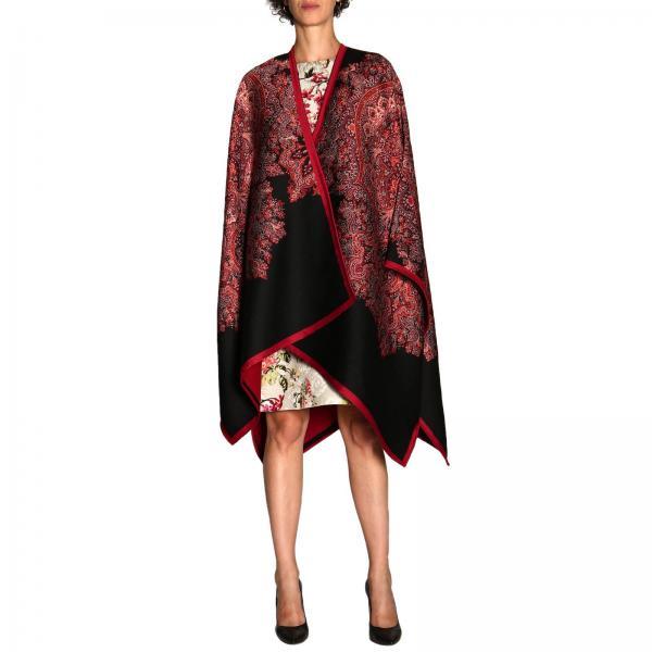 Mantella Etro in lana a fantasia paisley