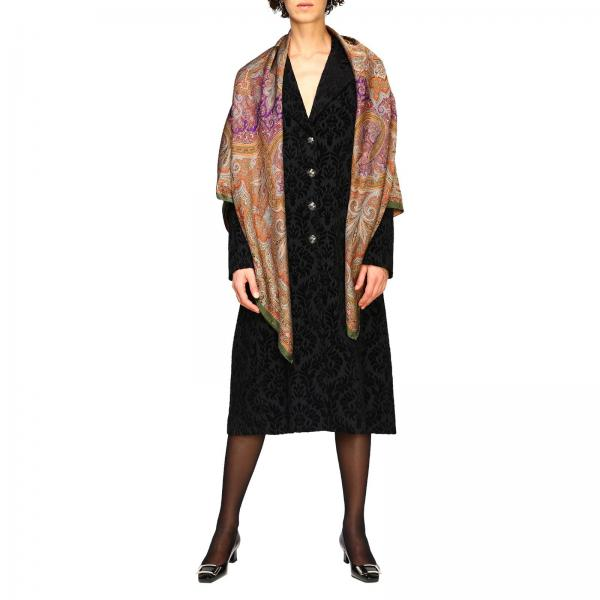 Etro scarf in wool and silk