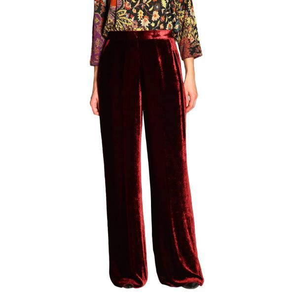 Pantalone Etro ampio in velluto
