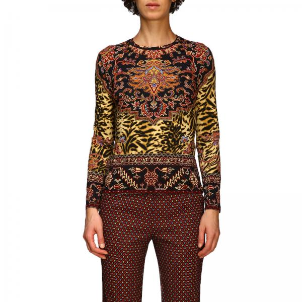 Long-sleeved sweater in patterned jersey by Etro