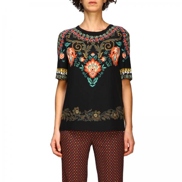 Блузка с длинными рукавами из шелка с узором torero by Etro