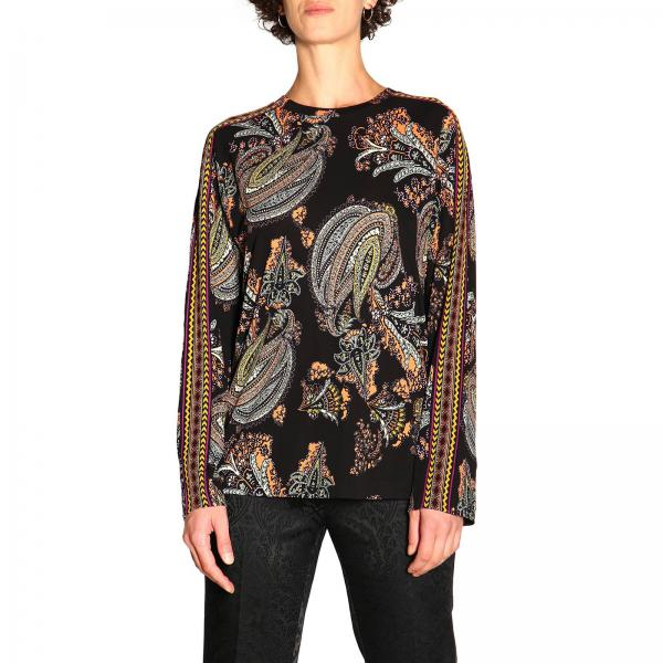 Long-sleeved jersey sweater with torero pattern by Etro