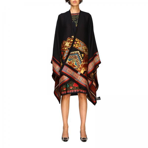 Mantella Etro in lana con ricami